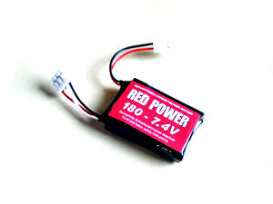 RED POWER  200 * 1S1P 3,7V 200mAh * 16/30C Lipo Akku