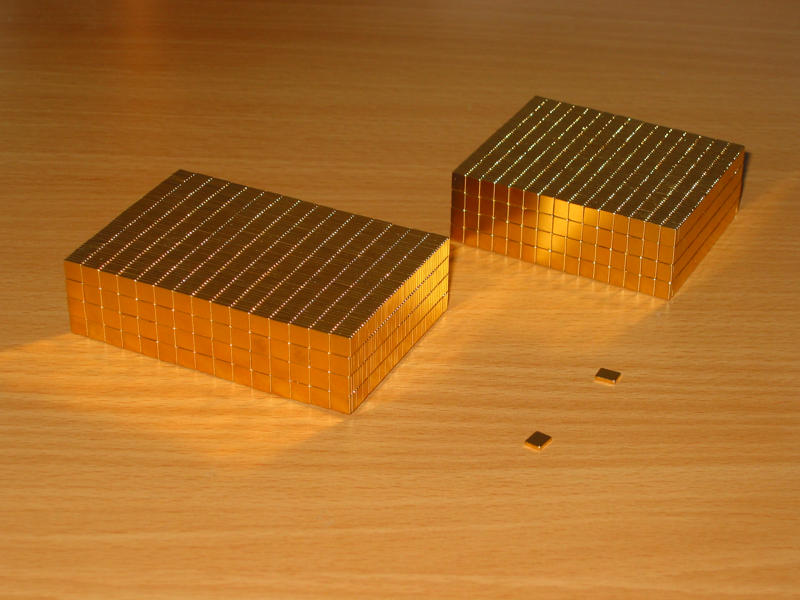 Neodym Power-Magnet vernickelt: 40x40x20mm N48