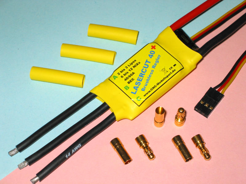 LaserCut40 Brushless-Regler 40A OPTO