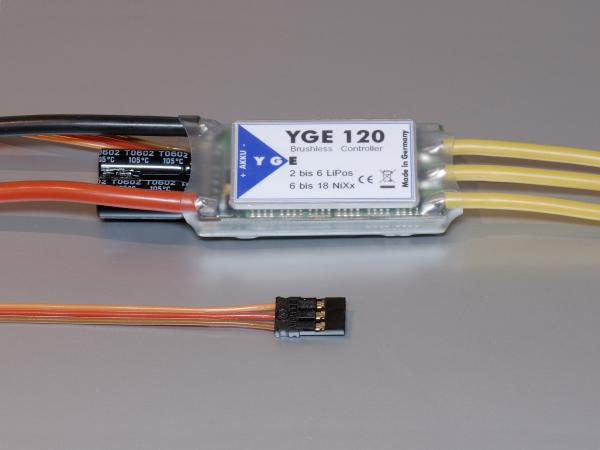 YGE 100 (Switch-BEC, 6-18NiXx, 2-6Lipo) Brushless Regler